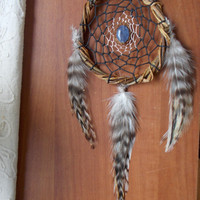 Natural Willow Dream Catcher with Sodalite // Boho Hippie Bed Room Apartment Wall Hanging Decor