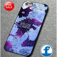 Game of thrones winter is coming map   for iphone, ipod, samsung galaxy, HTC and Nexus PHONE CASE