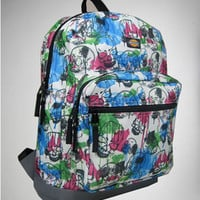 Water Color Skull Deluxe Backpack