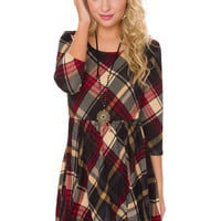 Haleigh Plaid Dress