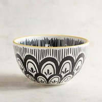 Parks Small Black & White Pad Print Bowl