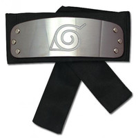 Headband: Naruto Shippuden - Konoha/Leaf (Black Version)