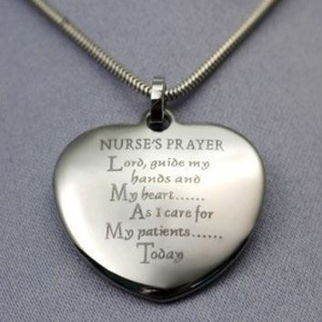 Nurse Gift - Nurse Prayer Gift Necklace