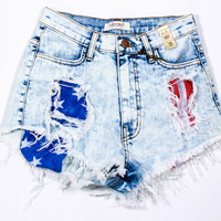 Betsy Ross High Rise Shorts