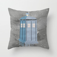 The Police Box Throw Pillow by Anthony Londer | Society6