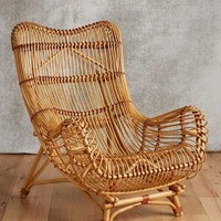 Susila Rattan Chair by Anthropologie in Natural Size: Chair Furniture