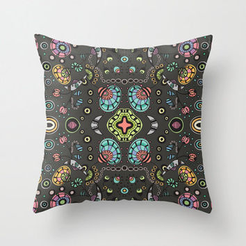 Funky Bloom Indoor and Outdoor Throw Pillows