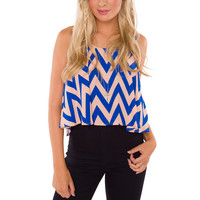One To Rule Them All Crop Top - Blue