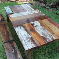 CARILLION Reclaimed Wood Kitchen Dining Outdoor Table