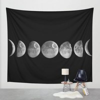 New moon Wall Tapestry by John Medbury (LAZY J Studios) | Society6