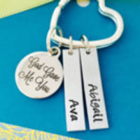 God Gave Me You Keychain, Personalized Grandma Keychain, Mom Keychain, God gave me you
