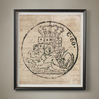 18TH CENTURY EUROPEAN DOCUMENT Seal #8, Coat of Arms, Crest, Heraldry, Heraldic Poster, Vintage Family Crest, Vintage Coat of Arms, Wall Art