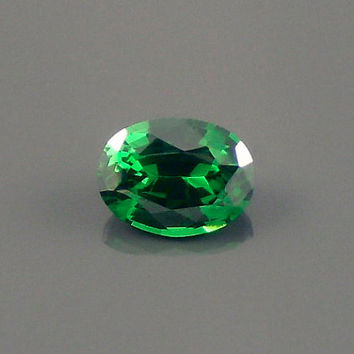 Tsavorite Garnet: 0.97ct Green  Oval Shape Gemstone, Natural Hand Made Faceted Gem, Loose Precious Mineral, Cut Crystal Jewelry Supply 20208