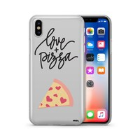 Love and Pizza - Clear Case Cover