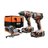 RIDGID 18-Volt X4 Lithium-Ion Cordless Drill/Driver and Impact Driver 2-Tool Combo Kit w/(2) 1.5Ah Batteries, Charger and Bag-R9602 - The Home Depot