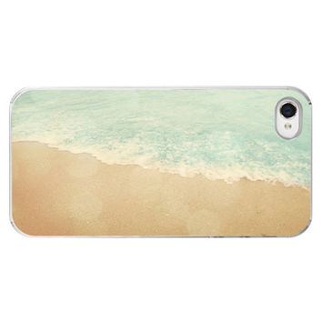 Iphone Case - Beach Aqua Bokeh Shore Beachy Summer Ocean Soft Pastel Sea Iphone 4 4s Cover