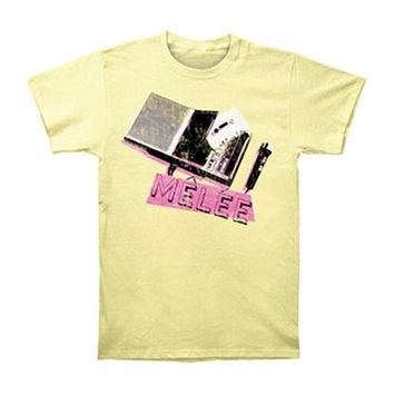 Melee Men's  T-shirt Yellow Rockabilia