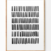 Black Abstract Shapes Poster