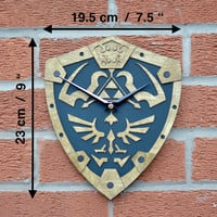Legend of Zelda inspired wall clock
