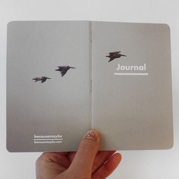 Pelican Flight Pocket Journal Notebook by helloquiettiger on Etsy