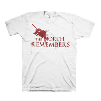 Game of Thrones The North Remembers White Cotton Cosplay Costume Summer Style Short Sleeve Sport t-shirt T Shirt For Men game of thrones