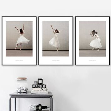 Ballet Girl Dance Wall Art Canvas Posters And Prints Canvas Painting Nordic Poster Pop Art Wall Pictures For Living Room Decor