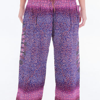 Purple Compass Harem Pants