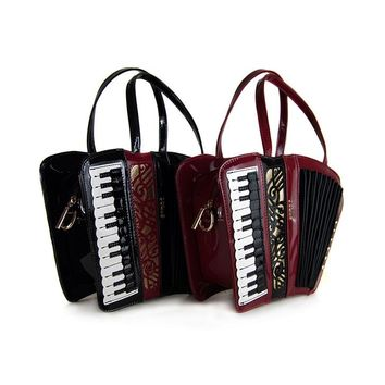 accordion Smiley Bag Women Shoulder Bag Italy Handbag Organist guitar style bags Ladies bag Brand Designer music totes gifts