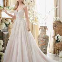 Loverxu Sexy Elegant Sweetheart Button Appliques A Line Bride Gowns 2016 Beaded Spaghetti Straps Vintage Wedding Dress Plus Size