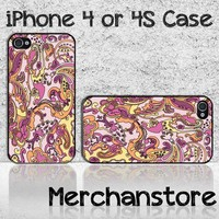 Unique Paisley Fantastic Pattern Custom iPhone 4 or 4S Case Cover