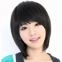 MapofBeauty New Natural Short Straight Wigs-Black-Ladies