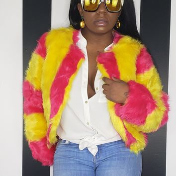 CANDY SHOP Faux Fur Jacket