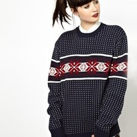 Pop Boutique Snowflakes Knitted Christmas Jumper