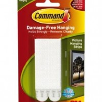 Command Large Picture-Hanging Strips, White, 4-Strip:Amazon:Home Improvement