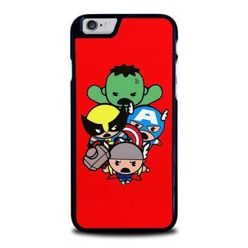 kawaii captain america hulk thor wolverine marvel avengers iphone 6 6s case cover  number 1
