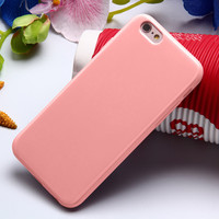 Pink Ultra Thin Soft TPU Silicon Candy Color Rubber Gel Phone Back Cover Case For Apple iPhone 5 5s SE 6s 6 Plus 6s Plus