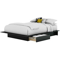 Full / Queen Size Modern Platform Bed Frame with 2 Storage Drawers