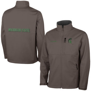 Michigan State Spartans Columbia Ascender Bonded Softshell Jacket – Gray