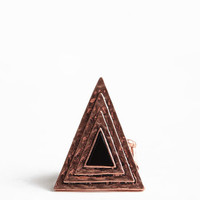 On Edge Triangle Ring - $10.00 : ThreadSence, Women's Indie & Bohemian Clothing, Dresses, & Accessories