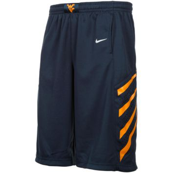 Nike West Virginia Mountaineers Youth Replica Player Mesh Basketball Shorts - Navy Blue - http://www.shareasale.com/m-pr.cfm?merchantID=7124&userID=1042934&productID=520961564 / West Virginia Mountaineers