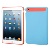 Hybrid Card Protector Case for iPad Mini / Mini 2 - Baby Blue/Orange