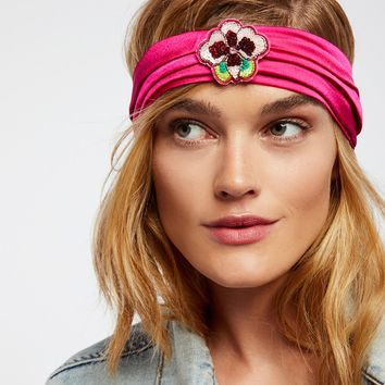 Free People Sequin Patch Turban