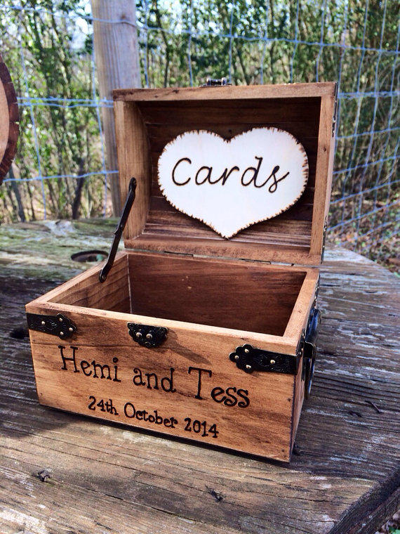 Shabby Chic and Rustic Wooden Card Box from CountryBarnBabe on – Wooden Card Box Wedding