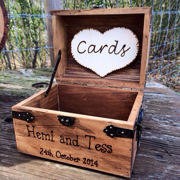 Shabby Chic and Rustic Wooden Card Box - from CountryBarnBabe on
