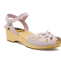 Swedish Hasbeens Ornament Flat Sandals in Pink