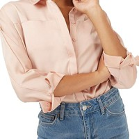 Topshop Lily Satin Bubble Shirt | Nordstrom