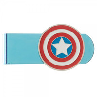 Captain America Metal Badge Money Clip