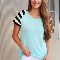 Totally Aqua Stripe Tee