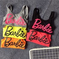 Beach Comfortable Sexy Stylish Hot Summer Bralette Sports Shockproof With Steel Wire Spaghetti Strap Vest [109539459101]