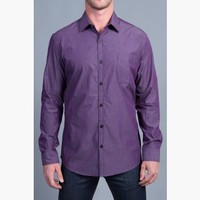 {Modern English} Chambray Dress Shirt in Plum Prestige